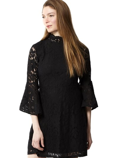 Izabel lace high neck dress
