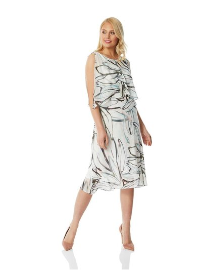Roman Originals abstract print chiffon layer dress