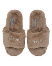 Love to Sleep fluffy slippers
