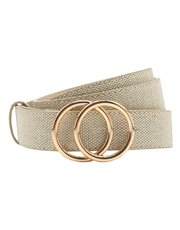 Canvas double ring belt