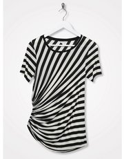Sonder Studio ruched stripe t-shirt