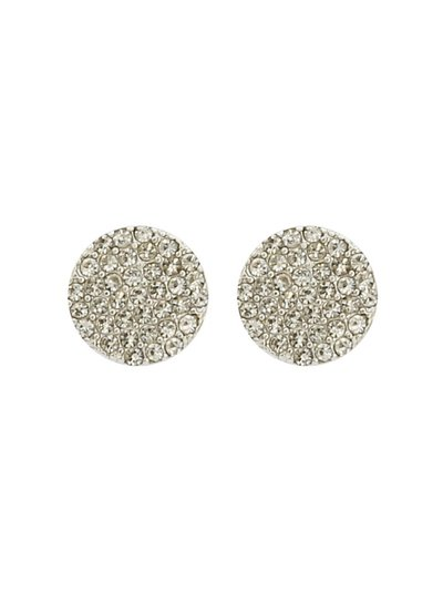 Diamante disc earrings