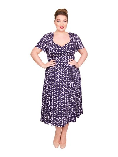 Scarlett and Jo plus floral star tab 40s dress