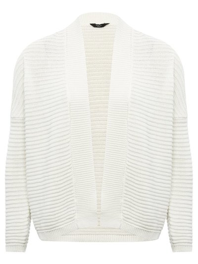 Petite ribbed cropped cardigan