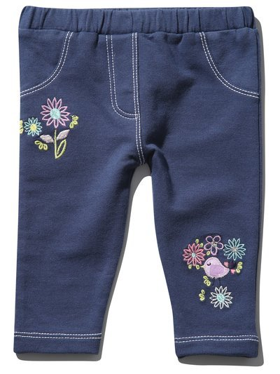 Floral embroidered jeggings (0 mths - 4 yrs)