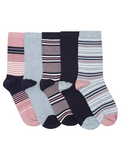 Stripe mix socks five pack