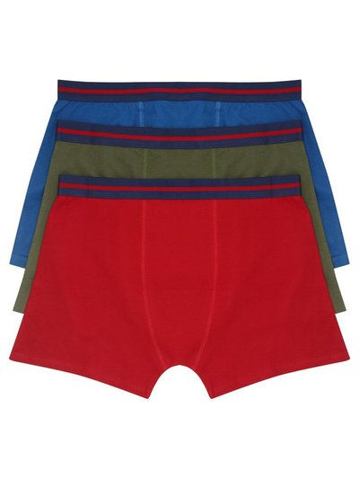 Plain trunks three pack