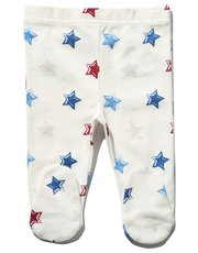 Star print leggings with integral feet
