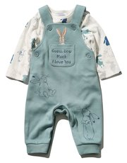 Guess how much I love you dungaree and bodysuit set