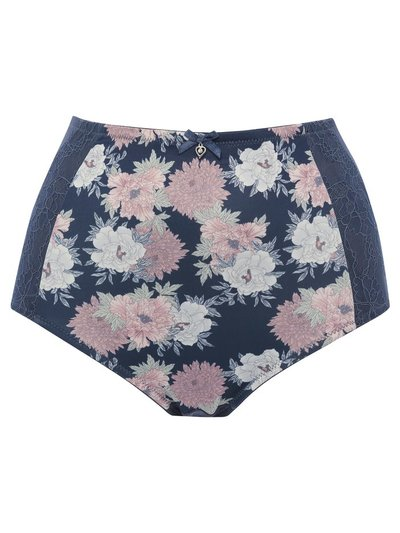 Pink floral high waist medium control briefs