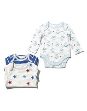 Monkey and star bodysuits three pack