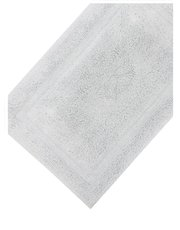 Silver cotton deep pile bathmat