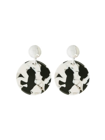 Monochrome resin earrings