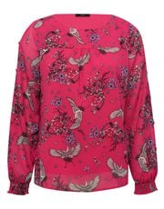 Floral bird print blouse