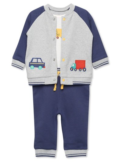 Truck top joggers and jacket set (Newborn-18mths)