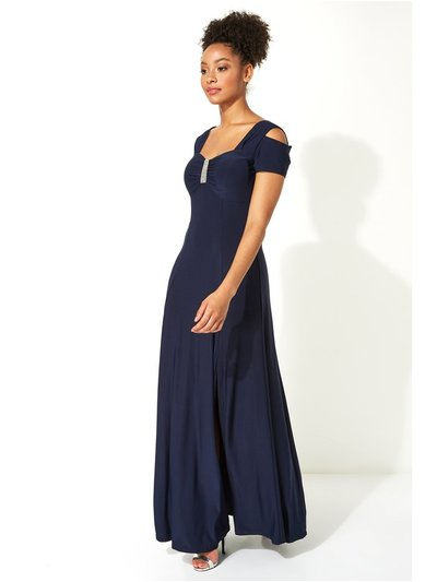 Roman Originals diamante cold shoulder maxi dress