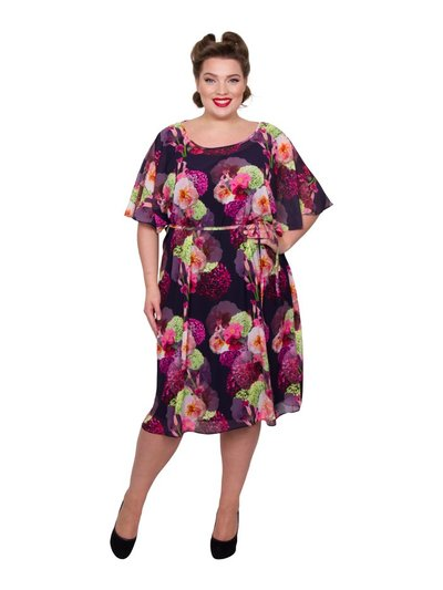 Scarlett and Jo plus floral kimono dress