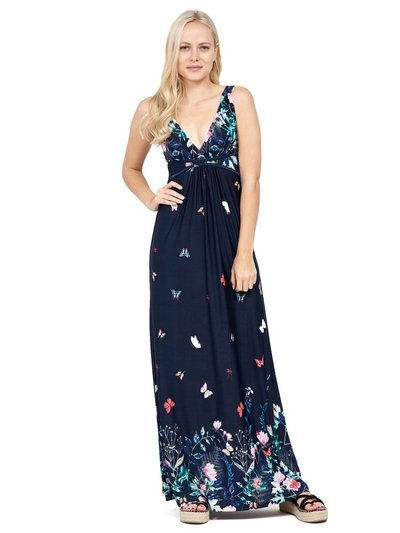 Izabel butterfly print maxi dress