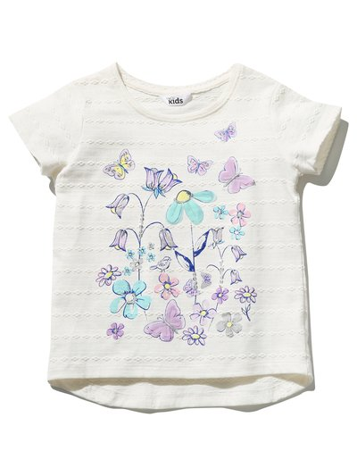 Floral broderie t-shirt