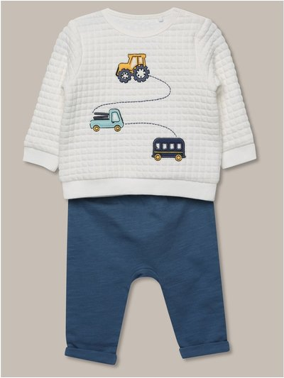 Waffle top and jogger set (newborn-18mths)