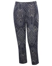 Plus tribal print trousers
