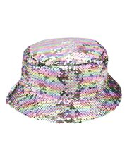 Two way sequin sun hat