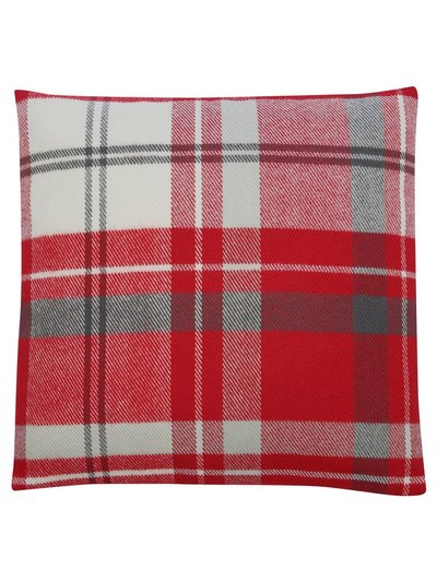 Red tartan check cushion