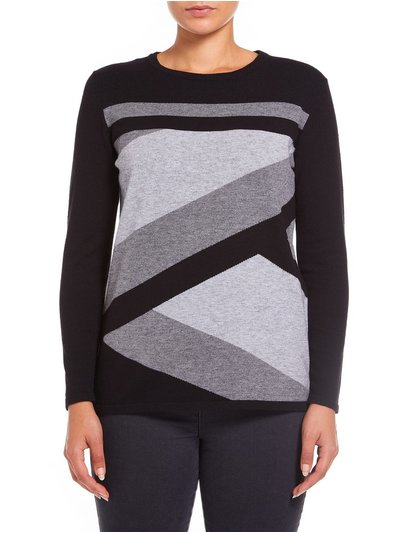 VIZ-A-VIZ colour block knit