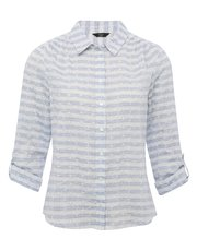 Petite broderie lace stripe shirt