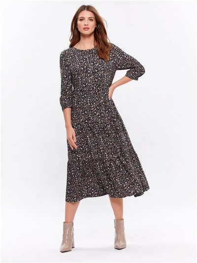 Petite animal midi dress