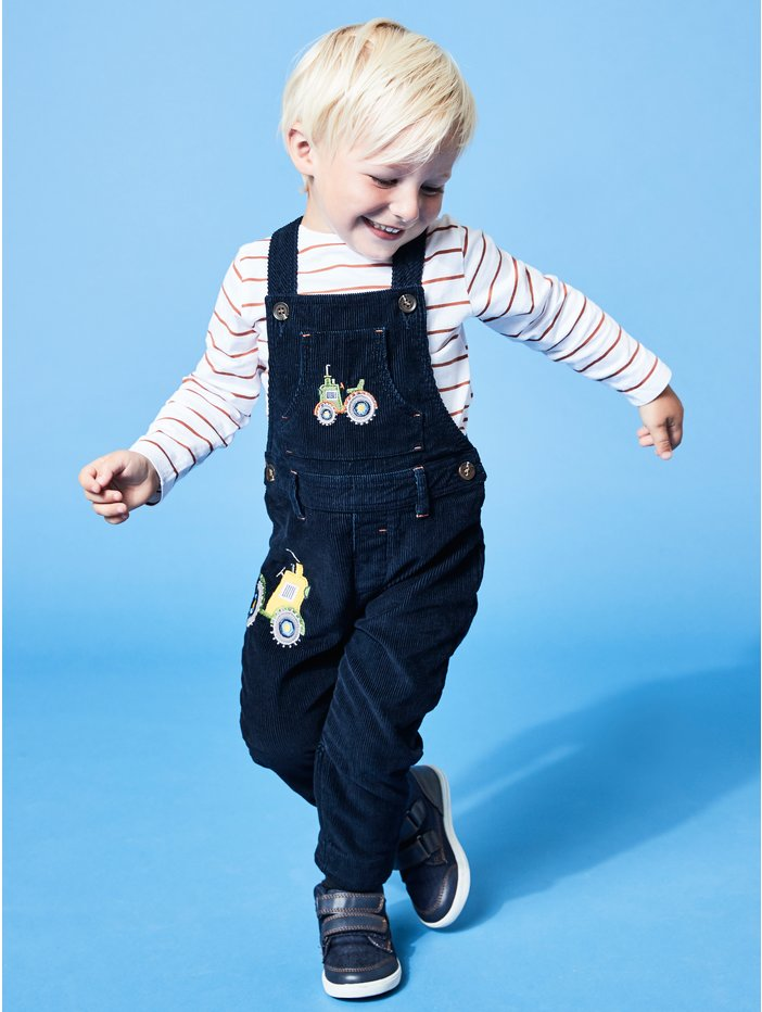 9116f4fcc Cord Tractor Dungarees And Bodysuit Set