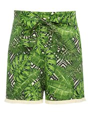 Teen palm print short