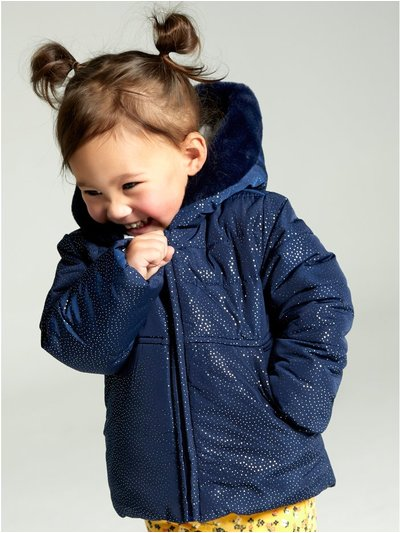 Foil shimmer padded jacket (9 mths - 4 yrs)