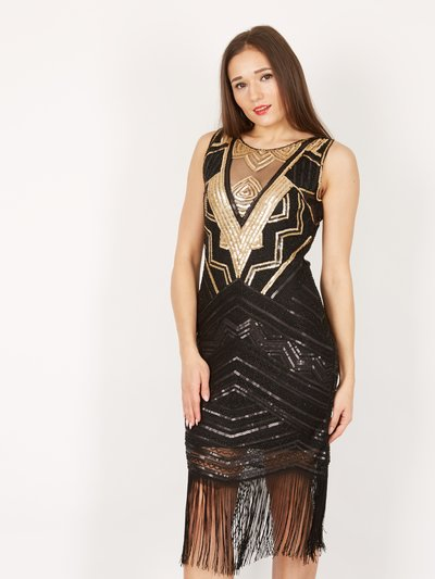 Izabel embellished sequined dress