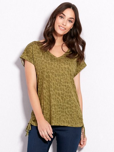 Animal print v neck t-shirt