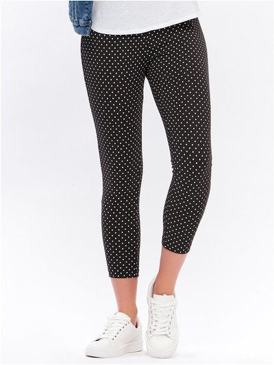 Polka dot cropped leggings