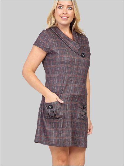 Izabel Curve checked cowl neck tunic dress