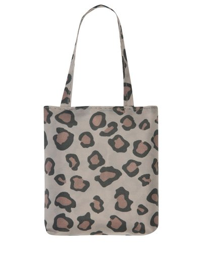 Totes leopard print folding shopping bag