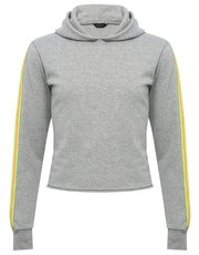 Teens' cropped neon stripe hoody