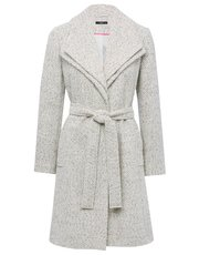 Textured wrap coat