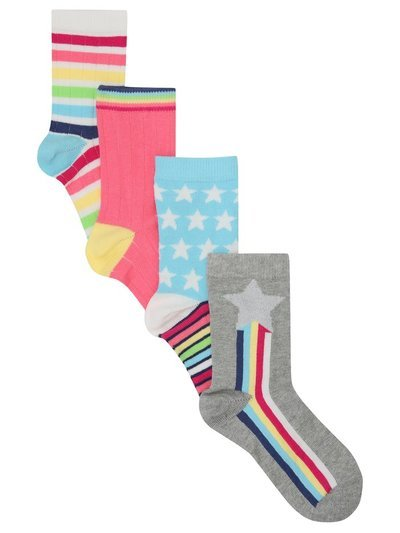 Star and stripe socks four pack