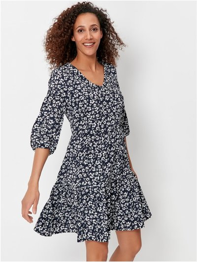Ditsy smock dress