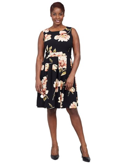 Izabel Curve floral fit and flare dress