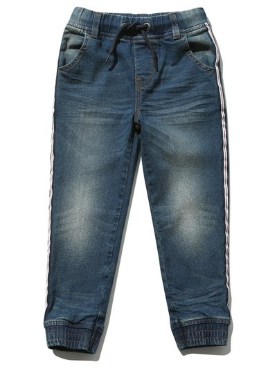 Side stripe denim joggers (3-12yrs)