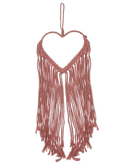 Fringed heart hanging decoration