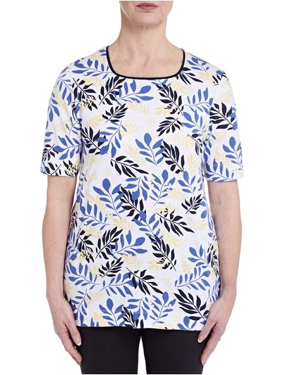 TIGI leaf print top