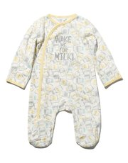 Milk bottle print sleepsuit