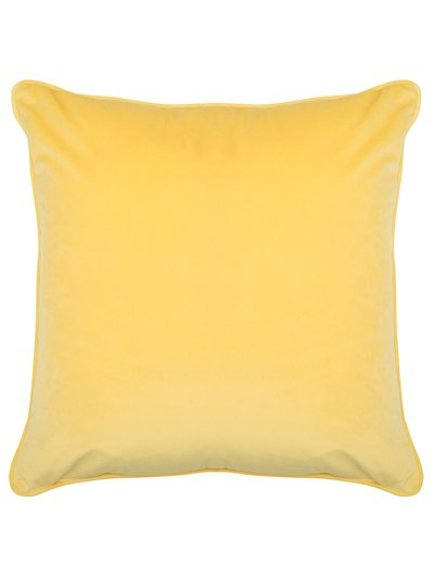 Yellow velour cushion