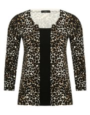 Two in one leopard print cardigan top