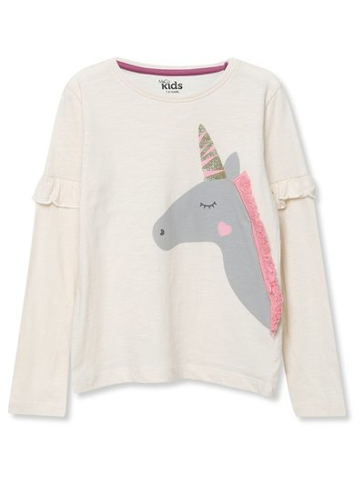 Unicorn embellished top (3-12yrs)